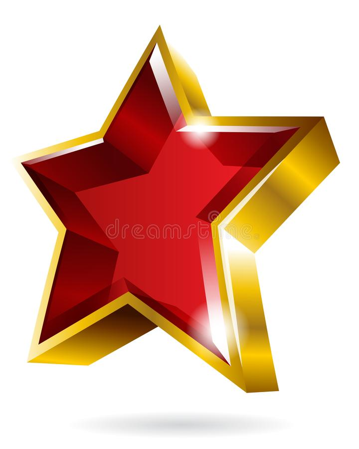Vector Gold Star Symbol Graphic Isolated On White Background Stock