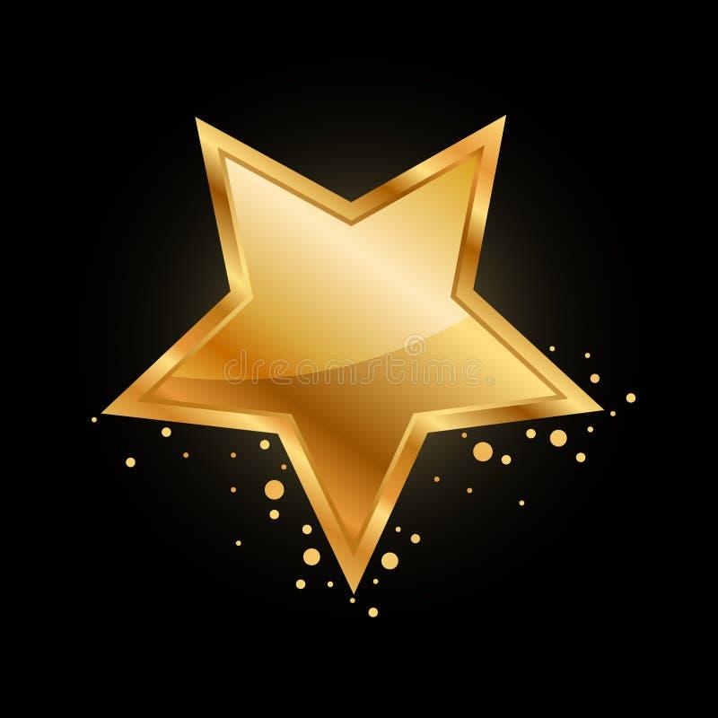 Gold star vector illustration