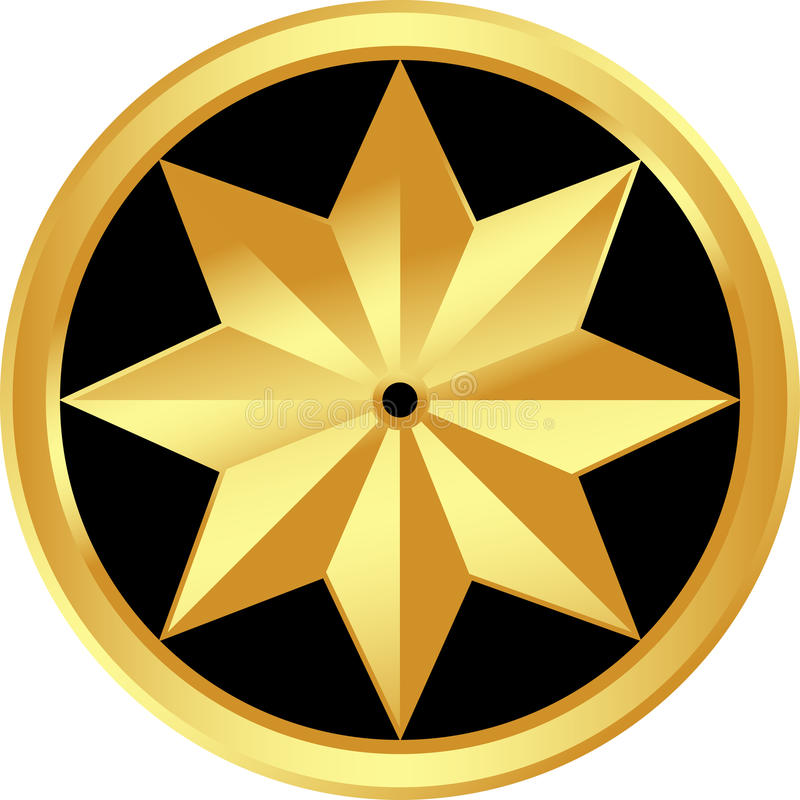 Gold star royalty free illustration