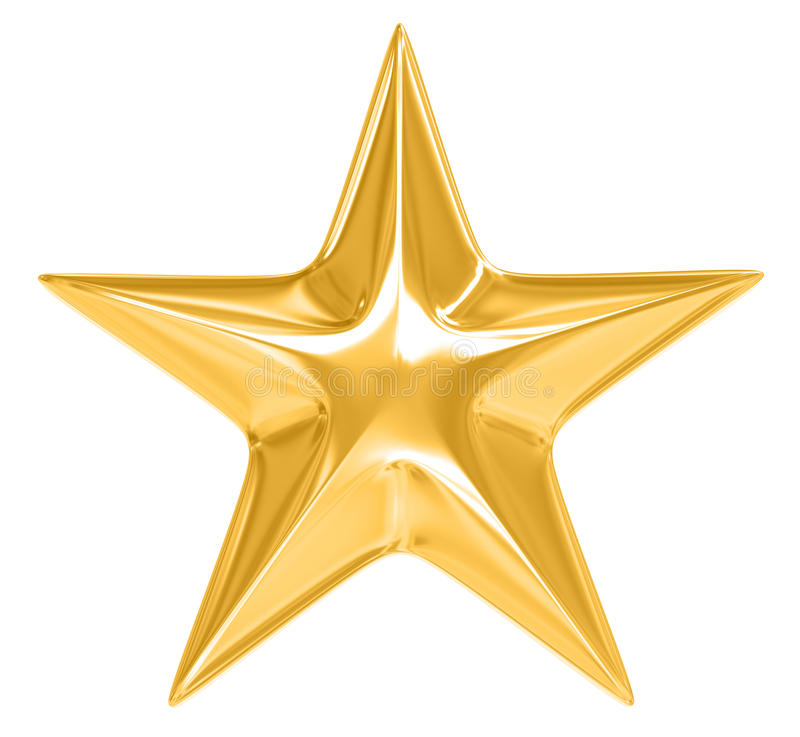 Gold Star On White Background Stock Illustration ... - photo #11