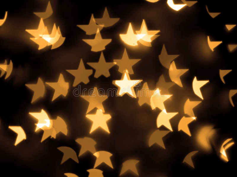 Download Gold Stars Bokeh Background Royalty Free Stock Images - Image: 3838189