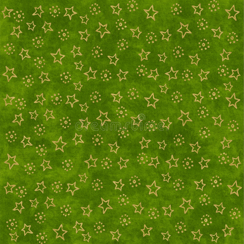 Download Gold Stars On Green Background Stock Photography - Image: 2987212