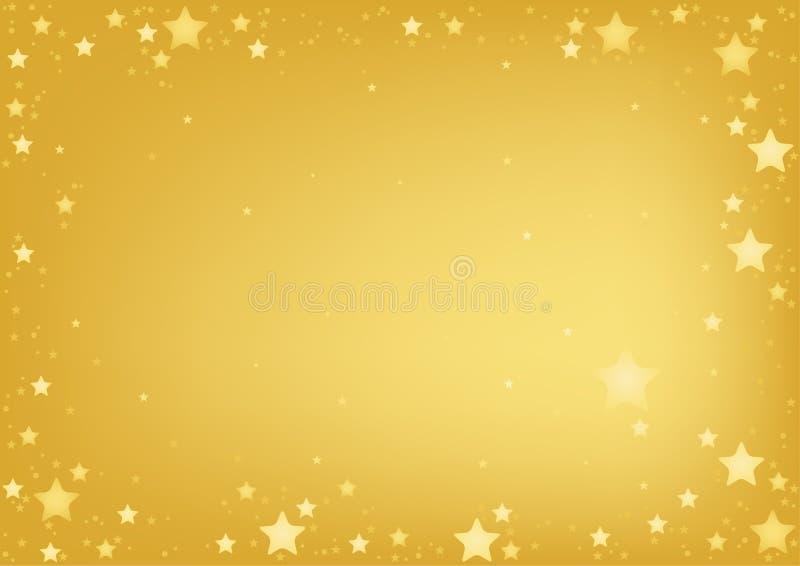 Gold Stars Hintergrund lizenzfreie abbildung