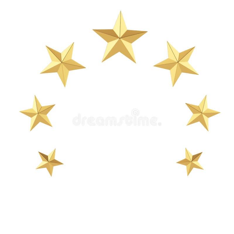Gold stars vector illustration