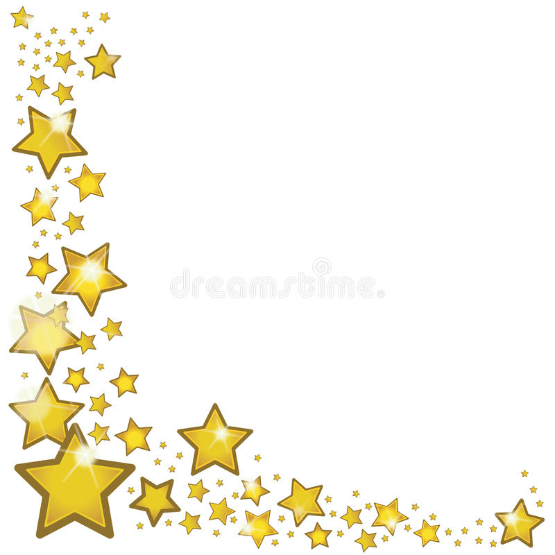 gold stars surrounding the picture frame stock vector illustration rh dreamstime com Gold Star Clip Art Cluster Big Gold Star Clip Art