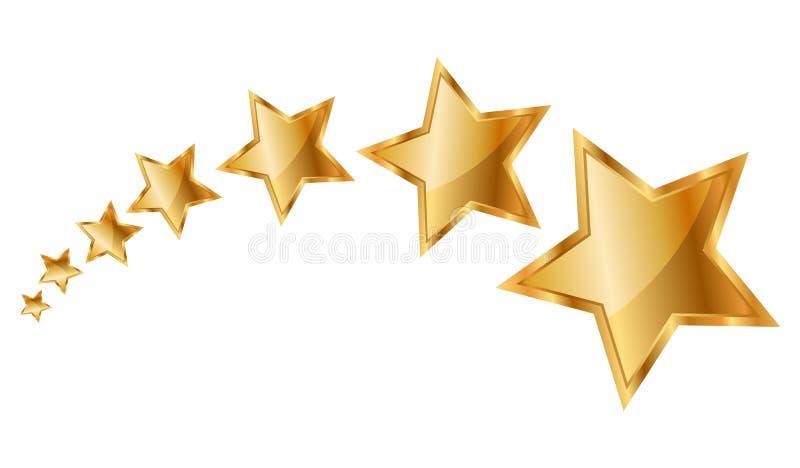 Gold stars. Vector illustration of gold stars stock illustration