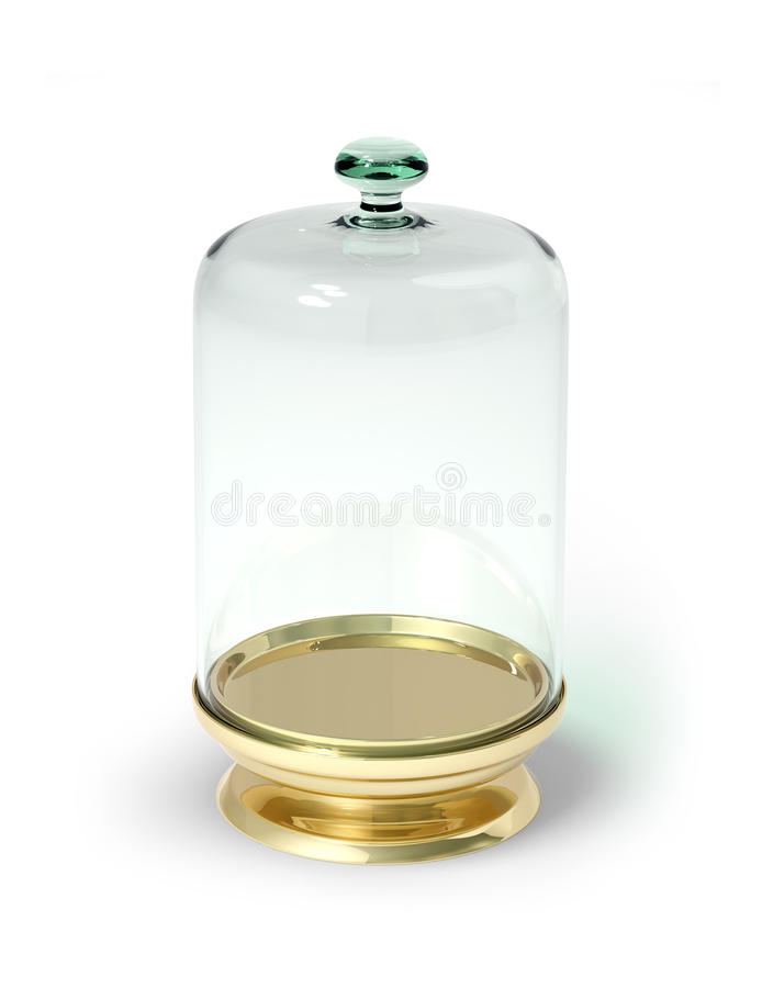 Download Gold Stay With Glass Bell 3d Model Royalty Free Stock Image - Image: 15087236