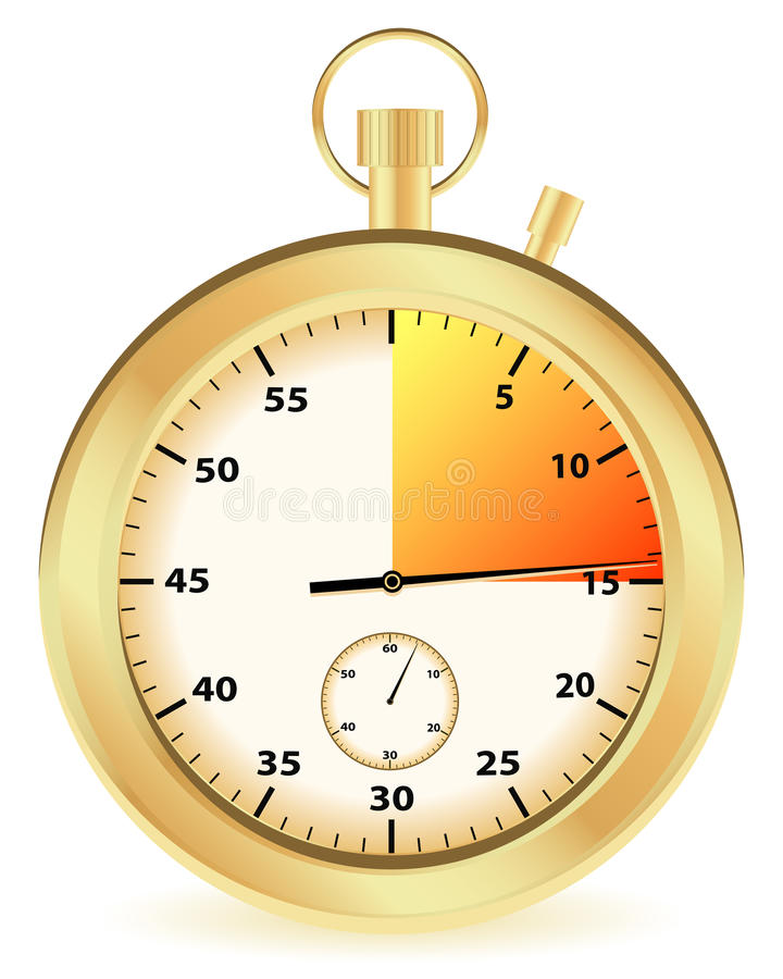 Gold stopwatch stock illustration