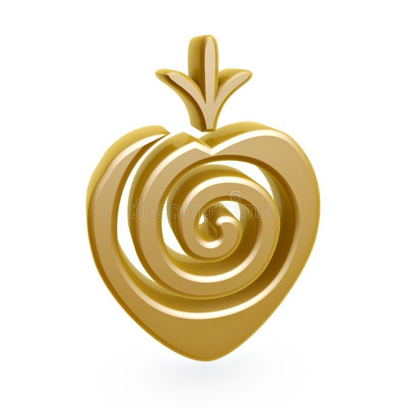 Download Gold strawberry symbol stock illustration. Image of diet - 19384519