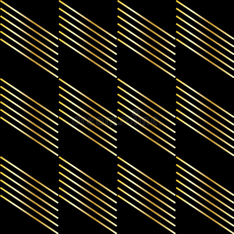 Gold strip on black. Background. Texture. Vector file. A gold diagonal stripes on black background. For art, print, web, holiday background, fabric texture stock illustration