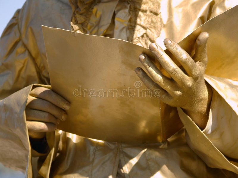 Gold student with book royalty free stock photos
