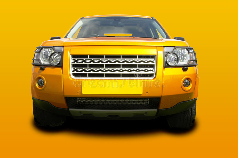 Gold suv royalty free stock photography