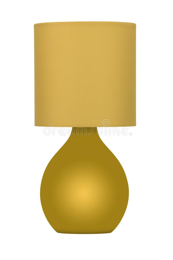 Gold lamp royalty free stock photos