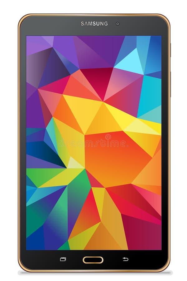 Gold Tablet-Samsungs-Galaxie Vorsprunges S lizenzfreie abbildung