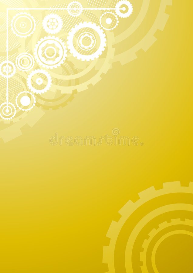 Gold technological background vector illustration