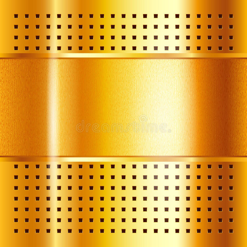 Gold template, metallic background. Vector illustration 10eps royalty free illustration