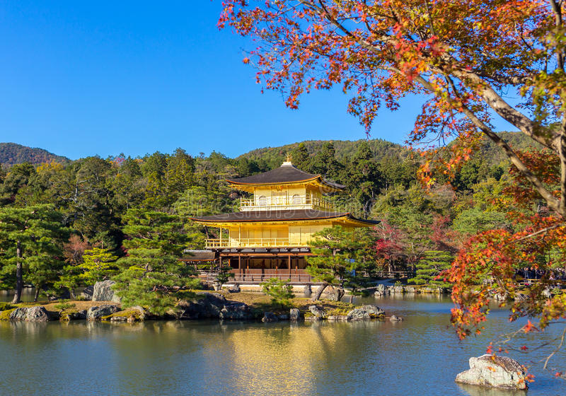 Gold temple in Japan royalty free stock photos
