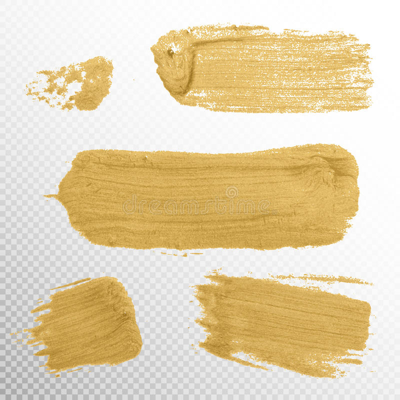 Free Gold Texture Paint Stain Illustration. EPS 10 Royalty Free Stock Photos - 71620128