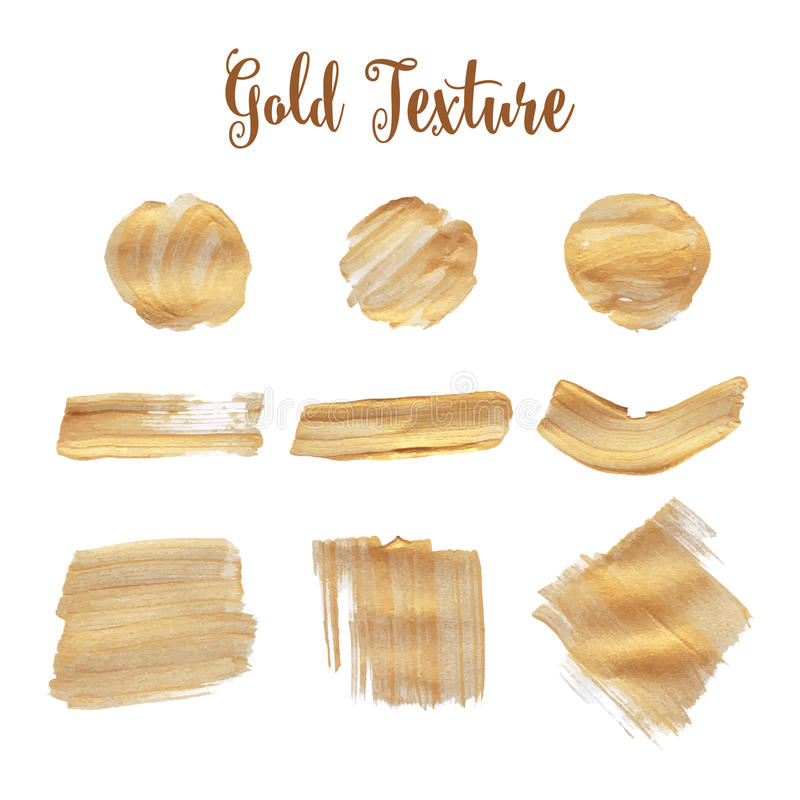 Gold texture. A water color background stock illustration