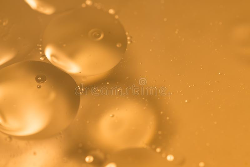 Yellow bubble textured background royalty free stock image