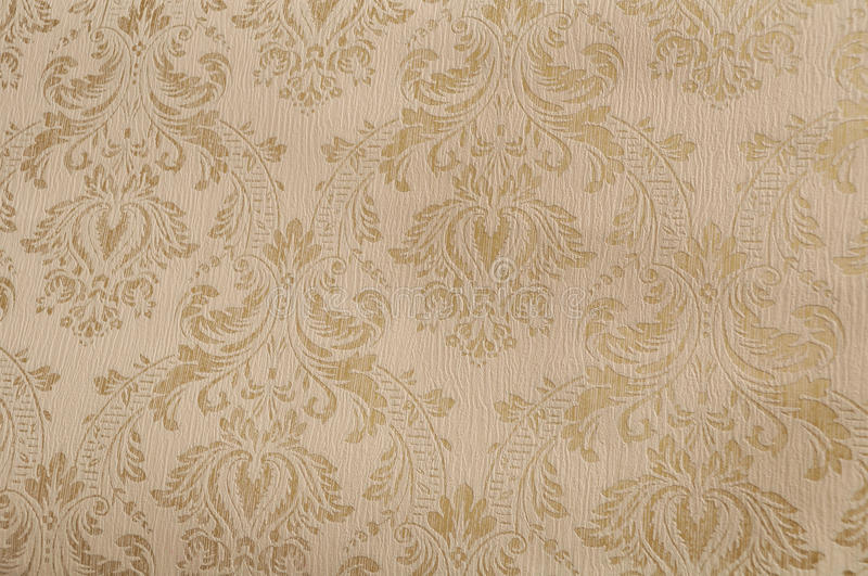Gold textured damask paper royalty free stock image