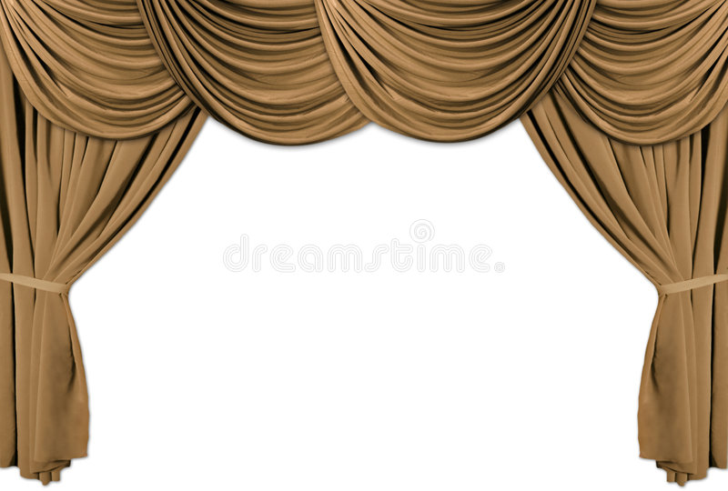 Download Gold Theater Stage Draped With Curtains Stock Illustration - Image: 1751633