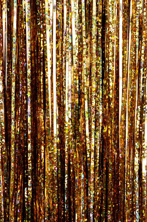 Gold tinsel royalty free stock photos