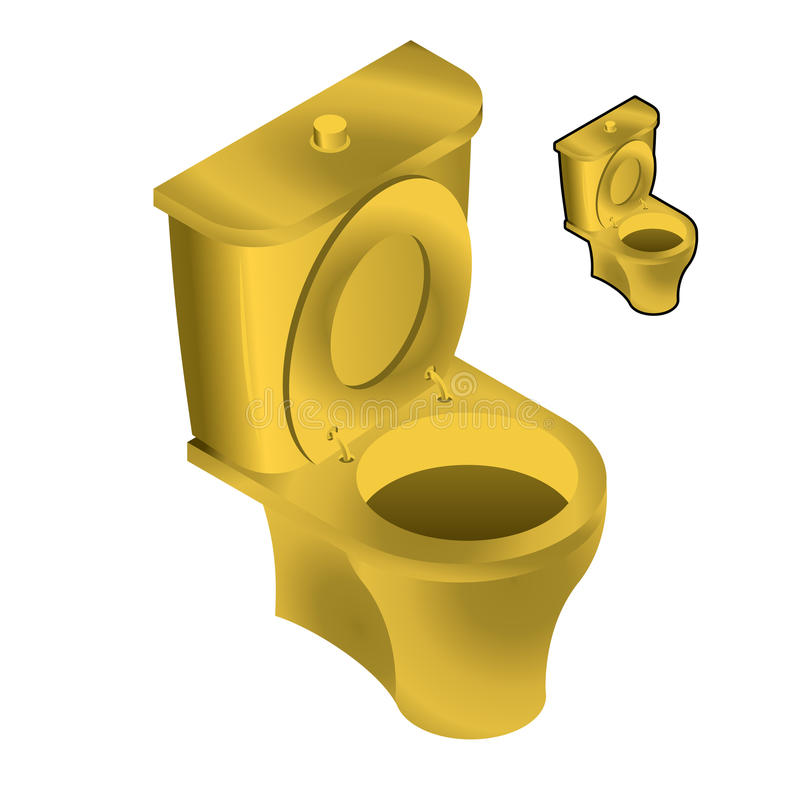 toilet made of gold. Download Gold Toilet Bowl Isometric Illustration On White Background  Sin Stock Vector Of