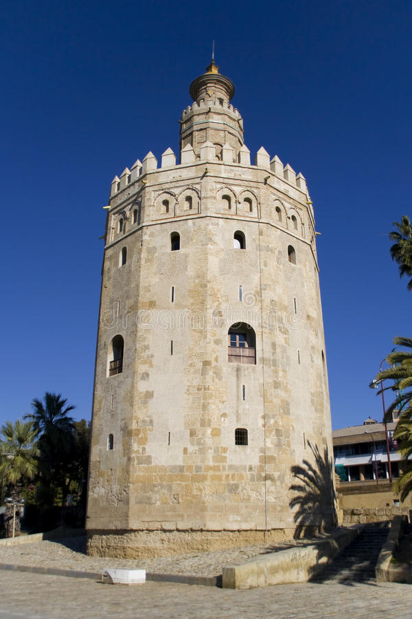 Gold Tower. Torre del Oro (Gold Tower), Seville, Spain royalty free stock image