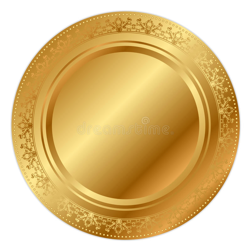 Gold Tray Stock Images