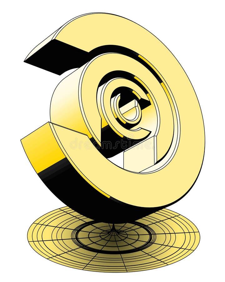 Gold trohpy lizenzfreie abbildung