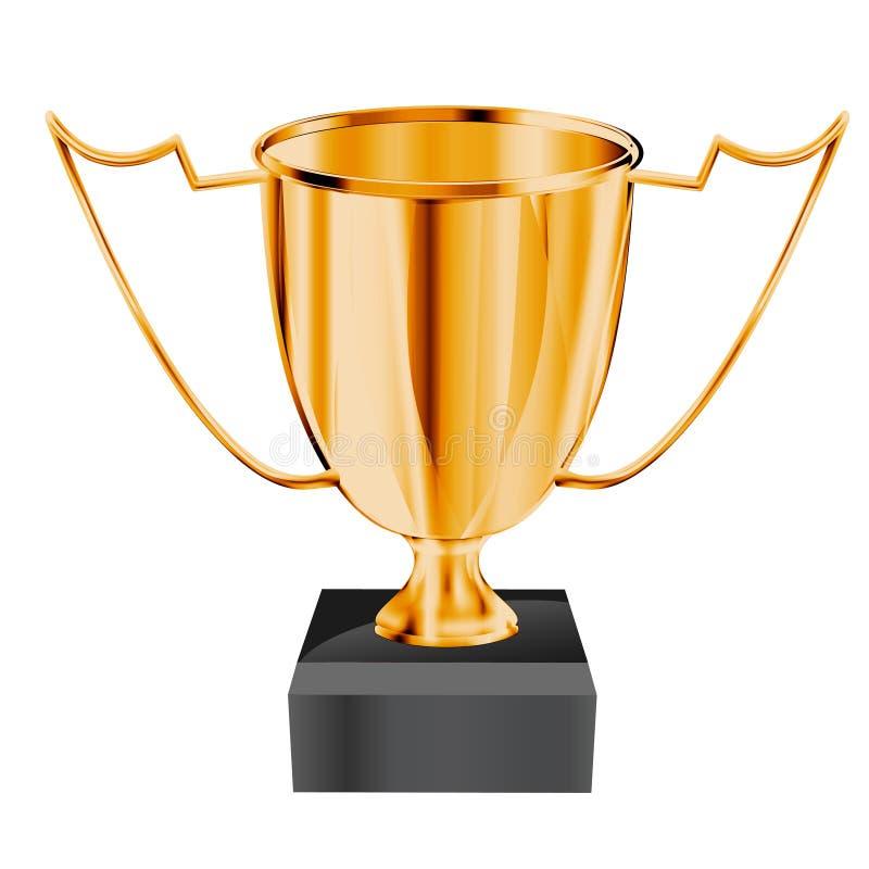 Gold_trophy illustration de vecteur