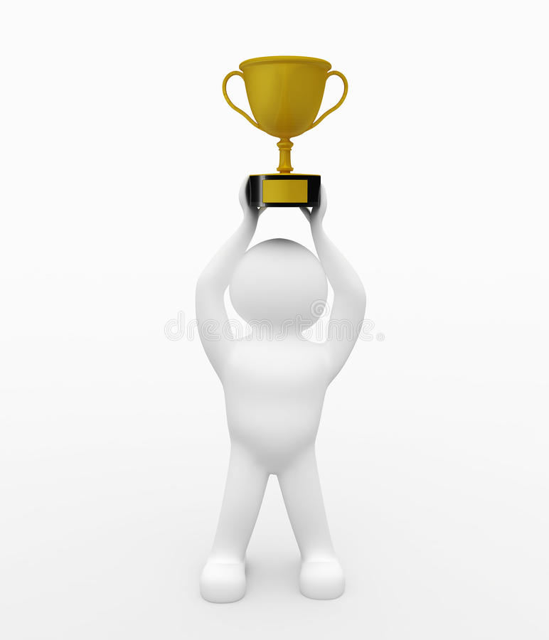 Gold Trophy royalty free stock image