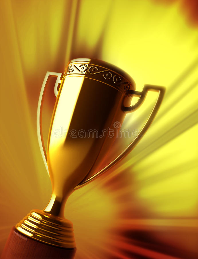 Gold trophy royalty free stock images