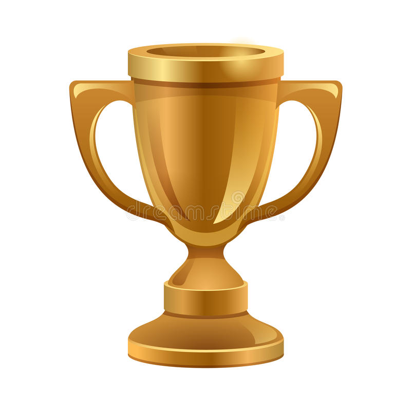 Gold trophy stock illustration