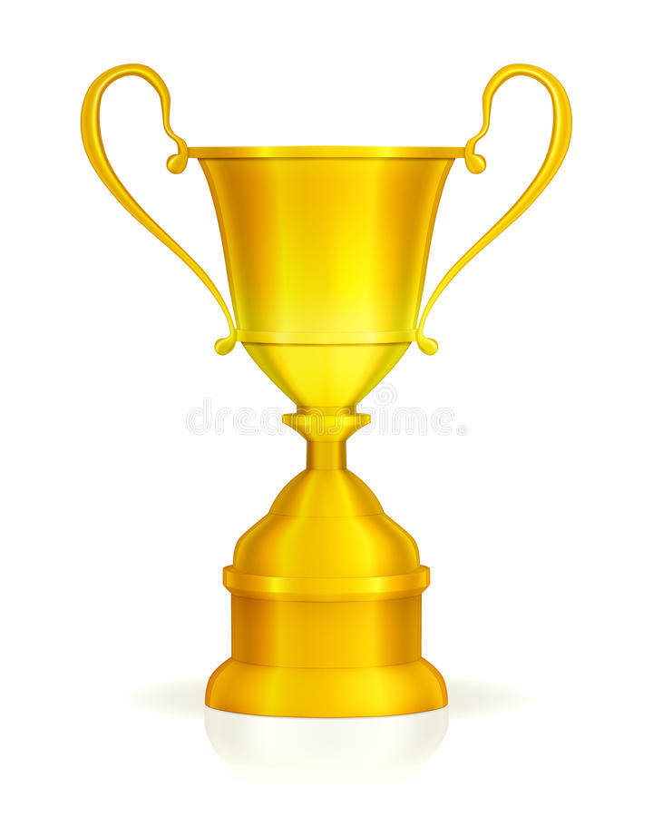 Download Gold trophy stock vector. Image of celebration, competition - 20259485