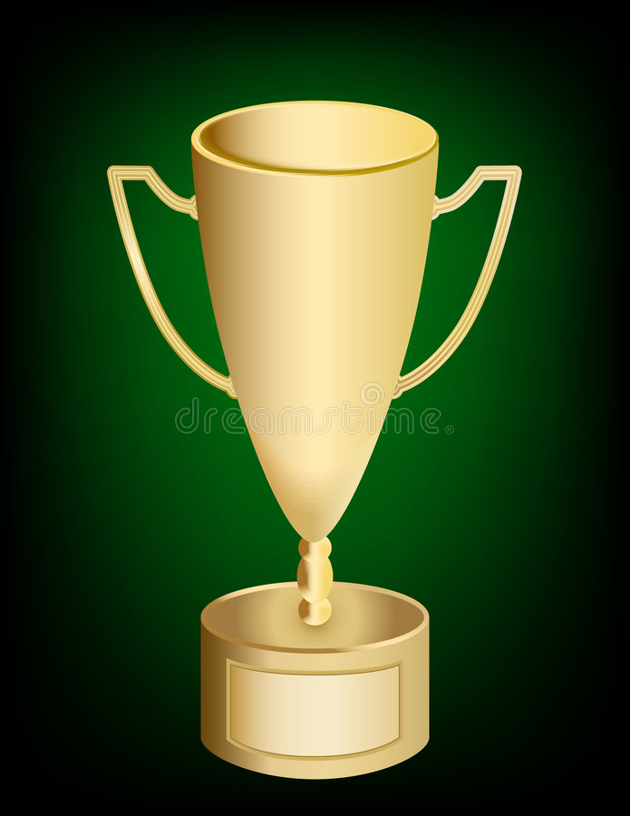 Download Gold Trophy Award Cup stock vector. Illustration of handles - 6781482