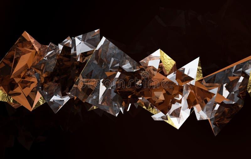Gold und braunes dimond lizenzfreie abbildung