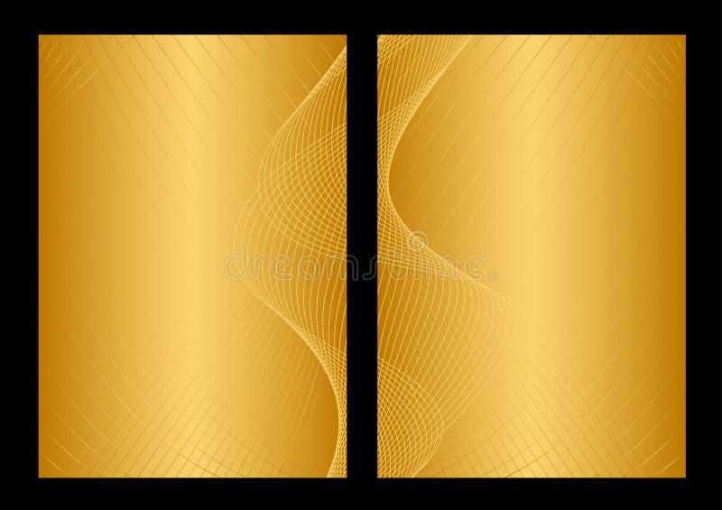 Gold und gelber Hintergrund, Frontseite und Rückseite lizenzfreie abbildung