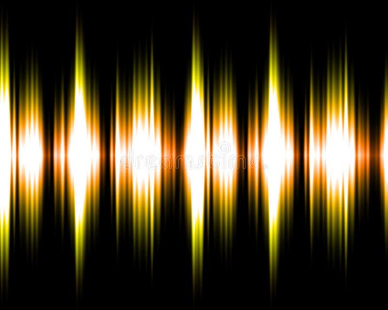 Gold und gelbes soundwave vektor abbildung