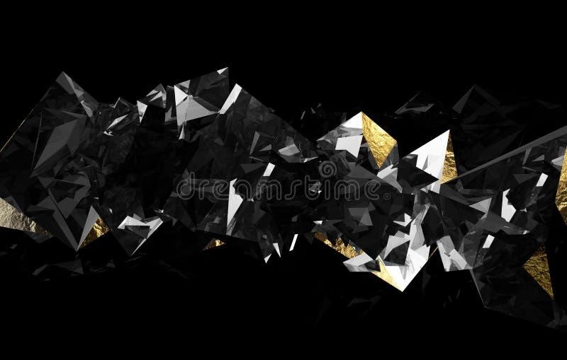 Gold und hinteres dimond vektor abbildung