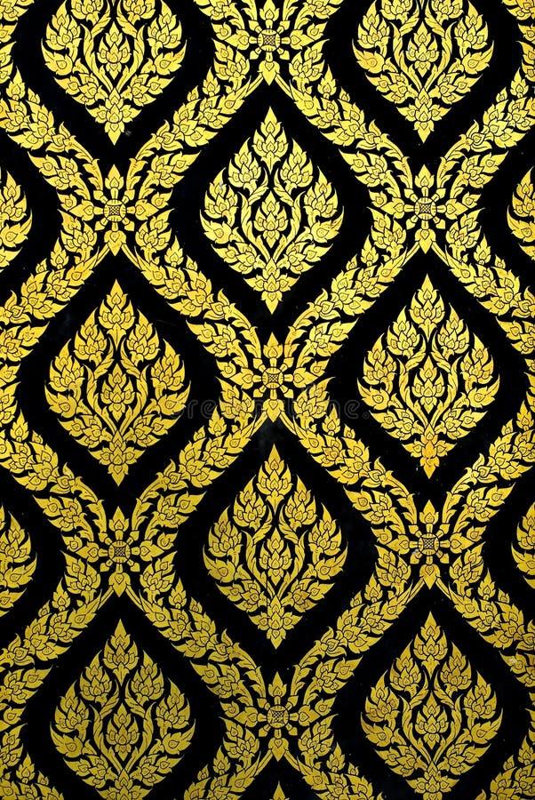 Gold und schwarzes Muster lizenzfreie stockfotografie