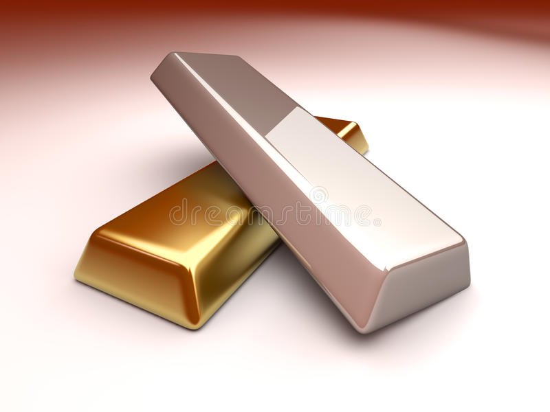 Gold und Silber lizenzfreie abbildung