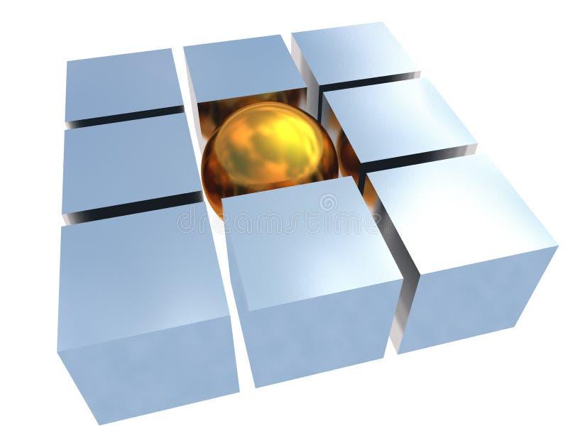 Gold unique sphere vector illustration