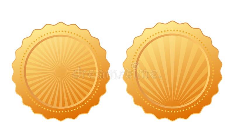 Gold vector seal royalty free illustration