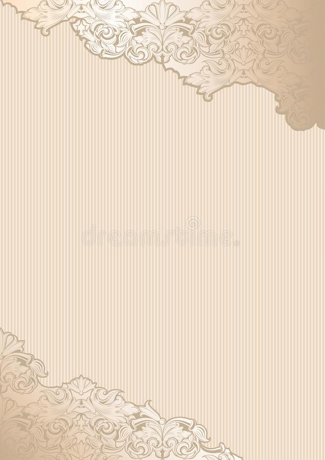 Gold vintage background, royal with classic Baroque pattern. Gold vintage background , royal with classic Baroque pattern, Rococo with darkened edges background vector illustration