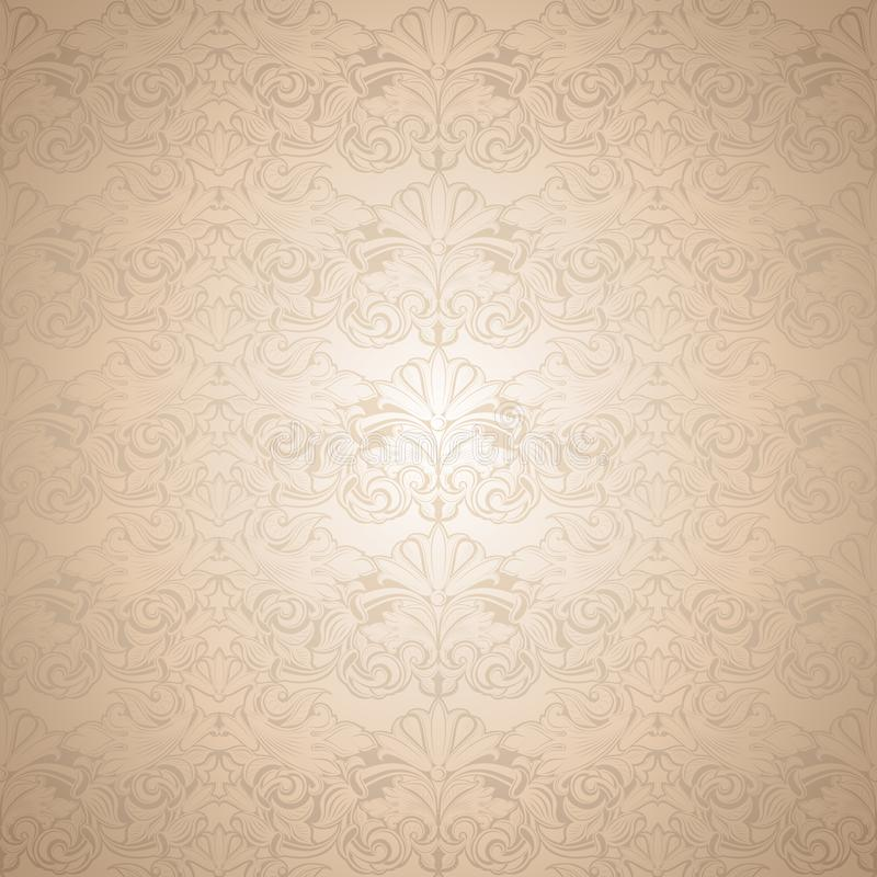 Gold vintage background , royal with classic Baroque pattern. Rococo with darkened edges backgroundcard, invitation, banner. Square format vector illustration