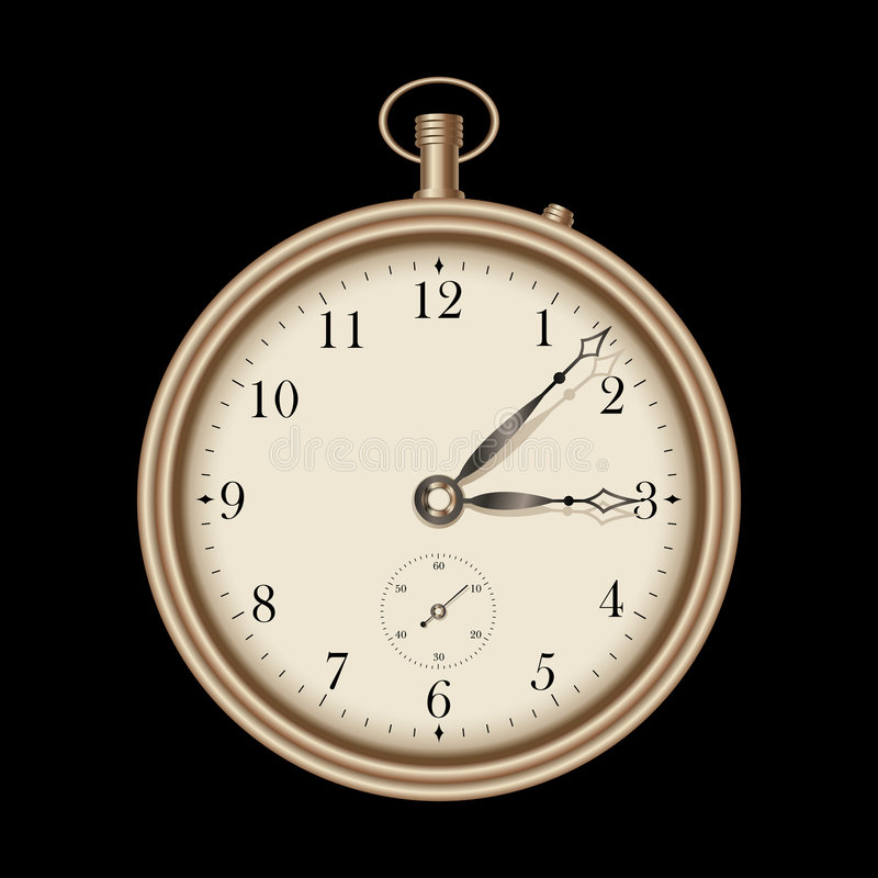Download Gold Vintage Clock - Vector Stock Vector - Image: 6577418