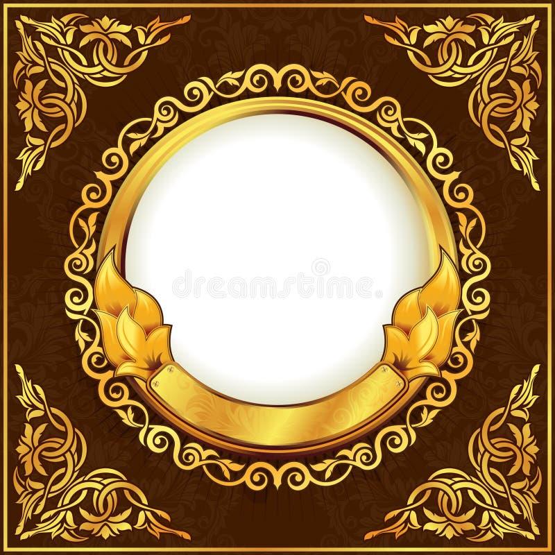 Gold vintage frame vector illustration