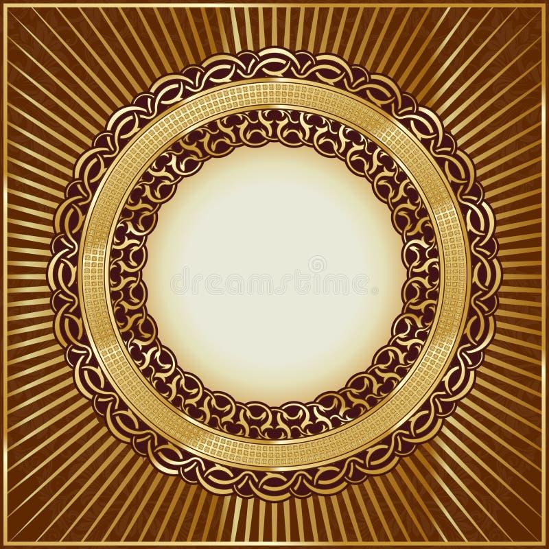 Gold vintage frame royalty free illustration